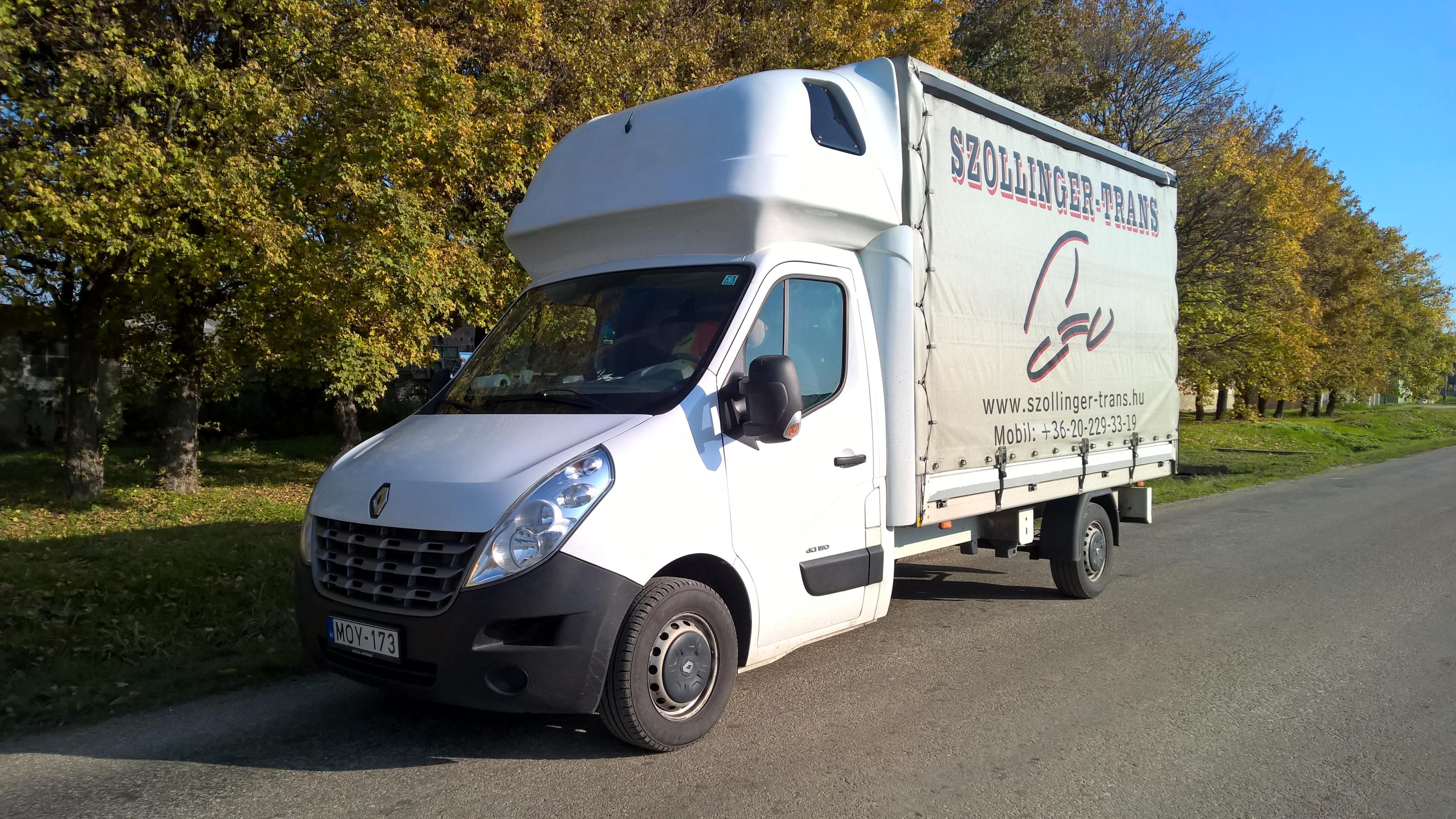 Renault Master ponyvás furgon